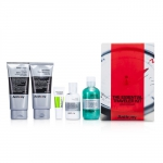 Logistics For Men The Essential Traveler Kit:  Cleanser + Mositurizer + Lip Blam + Shave Cream + Hair & Body Wash