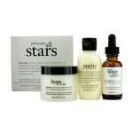 All Stars Kit: Purity Made Simple Cleanser 60ml/2oz + When Hope Is Not Enough Serum 30ml/1oz + Hope In A Jar 60ml/2oz