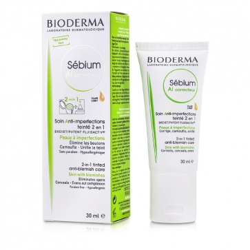 Sebium AI Corrective 2 in 1 Tinted Anti-Blemish Care (For Skin with Blemishes) - Clair Light
