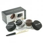 Long Wear Gel Eyeliner Duo: 2x Gel Eyeliner 3g (Black Ink, Sepia Ink) + Mini Ultra Fine Eye Liner Brush