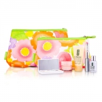 Travel Set: DDML Plus + Moisture Surge + Laser Focus + Eye Shadow Quad #05, 2A, 07 Duo + Mascara & Lipstick #62 + 2xBag