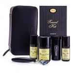 Travel Kit (Unscented): Razor+ Shaving Brush+ Pre-Shave Oil 30ml+ Shaving Cream 45ml+ A/S Balm 30ml+ Case