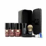 Travel Kit (Sandalwood): Razor+ Shaving Brush+ Pre-Shave Oil 30ml+ Shaving Cream 45ml+ A/S Balm 30ml+ Case