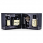The 4 Elements Of The Perfect Shave - Unscented (New Packaging) (Pre Shave Oil + Shave Crm + A/S Balm + Brush)
