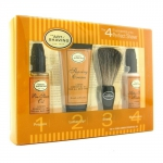Starter Kit - Lemon: Pre Shave Oil + Shaving Cream + Brush + After Shave Balm