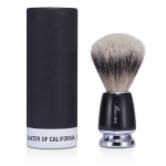 Baxter Badger Hair Shave Brush - Silver Tip (Black)