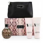 Jimmy Choo Coffret: Eau De Parfum Spray 100ml/3.3oz + Body Lotion 100ml/3.3oz + Shower Gel 100ml/3.3oz +Pouch
