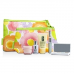 Travel Set: DDML Plus + Moisture Surge + Laser Focus + Eye Shadow Quad #03, 20, 23, 38 + Mascara & Lipstick #43 + 2xBag