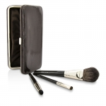 Travel Brush Kit: 1x Cheek Colour Brush, 1x Smudge Brush, 1x Eye Crease Brush, 1x Case (Unboxed)