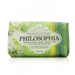 Philosophia Natural Soap - Breeze - Citrus Peel, Red Basil & Lime With Chlorophyll & Bamboo