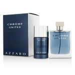 Chrome United Coffret: Eau De Toilette Spray 100ml/3.4oz + Deodorant Stick 75ml/2.1oz