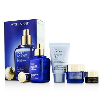 Skintone/Spot Correction Set: Enlighten Serum 50ml + Creme 15ml + ANR Eye Complex II 5ml + Perfectly Clean 30ml