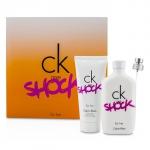 CK One Shock For Her Coffret: Eau De Toilette Spray 100ml/3.4oz + Body Lotion 100ml/3.4oz