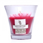 Floral Vase Premium Candle - Red Water Lily