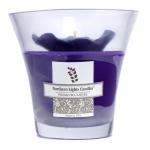 Floral Vase Premium Candle - Purple Pansy