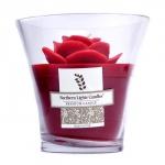 Floral Vase Premium Candle - Red Rose