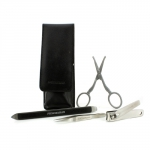 Essential Grooming Kit: Fingernail Clipper + Facial Hair Scissors + Nail Cleaner + Splinter Removal