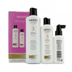 System 3 System Kit For Fine Hair, Chemically Treated, Normal to Thin-Looking Hair: Cleanser 300ml + Scalp Therapy Conditioner 150ml + Scalp Treatment 100ml