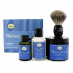 The 4 Elements Of The Perfect Shave - Lavender (New Packaging) (Pre Shave Oil + Shave Crm + A/S Balm + Brush)