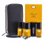 Travel Kit (Lemon): Razor+ Shaving Brush+ Pre-Shave Oil 30ml+ Shaving Cream 45ml+ A/S Balm 30ml+ Case