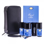Travel Kit (Lavender): Razor+ Shaving Brush+ Pre-Shave Oil 30ml+ Shaving Cream 45ml+ A/S Balm 30ml+ Case