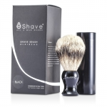 Travel Brush Silvertip With Canister - Black