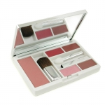 Compact Colour Makeup Palette (Powder Blush + 2x Lipstick + Eye Shadow Duo + 3x Applicator)