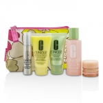 Travel Set: Facial Soap 30ml + Lotion 3 60ml + DDMG 30ml + Serum 10ml + All About Eyes 7ml + Bag