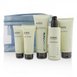 Deadsea Water Mineral Body Kit: Shower Gel + Body Exfoliator + Body Lotion + Hand Cream + Foot Cream + Blue Bag