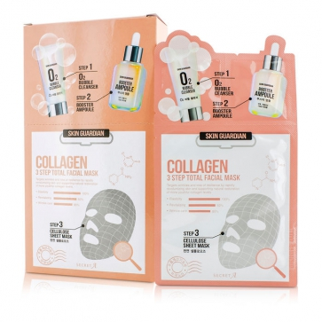 Skin Guardian 3 Step Total Facial Mask Kit - Collagen