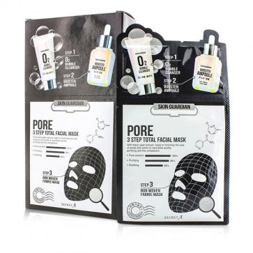 Skin Guardian 3 Step Total Facial Mask Kit - Pore