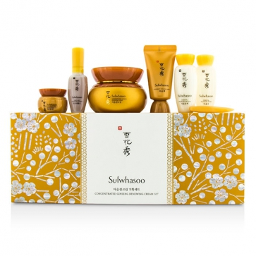 Concentrated Ginseng Renewing Cream Set: Cream 60ml & 5ml + Balancing Water 15ml + Emulsion 15ml + Mask 15ml + Serum 8ml