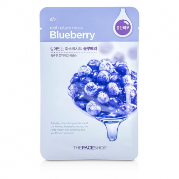 Real Nature Mask - Blueberry (Highly Nourishing)